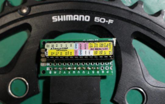 【パワーメーター2019】ATMEGA328Pシリアル速度9600bps固定<10msec周期>